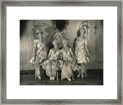Dancers In Persian Costumes Framed Print