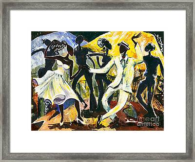 Dancers No. 1 - Saturday Nights Out Framed Print by Elisabeta Hermann