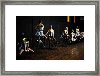 Dancers On Stage Framed Print by Jon Van Gilder