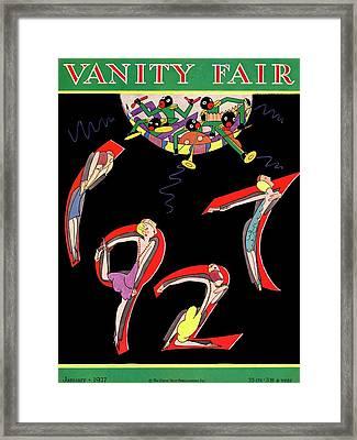 Dancers Spelling 1927 Framed Print