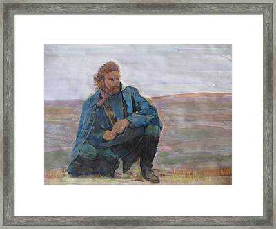 Dances With Wolves Framed Print by Vikram Singh