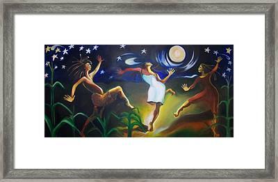 Dancin In The Moonlight Framed Print by Joyce McEwen Crawford