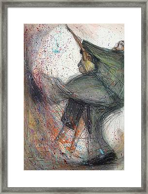 Dancin' Up A Storm Framed Print