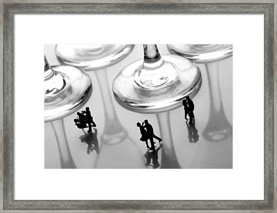 Dancing Among Glass Cups Framed Print