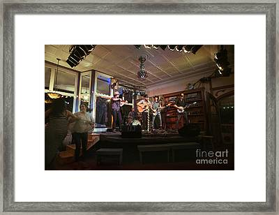 Dancing At The Purple Fiddle With Bryan Elijah Smith And The Wild Heart Band  Framed Print by Dan Friend