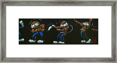 Dancing Aubie Framed Print by Carole Foret