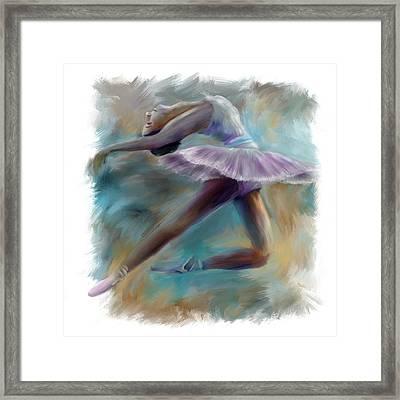 Dancing Ballerina Framed Print by Bijan Studio