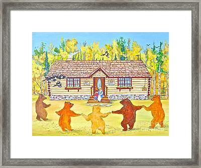 Dancing Bears Framed Print by Virginia Ann Hemingson