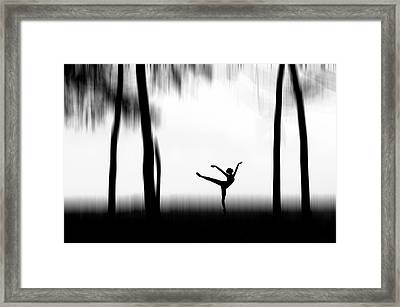 Dancing Framed Print by Bocah Bocor