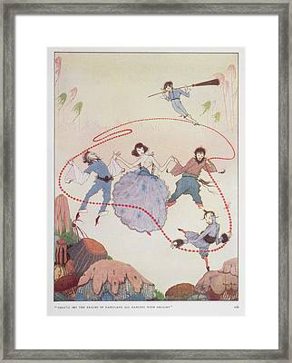 Dancing Framed Print by British Library