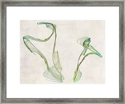 Dancing Circles Framed Print by David Ridley