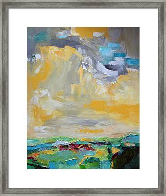 Dancing Clouds  Framed Print by Becky Kim