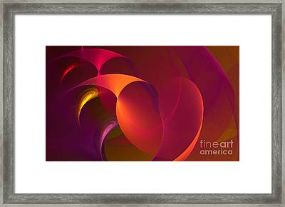 Dancing Colors Framed Print