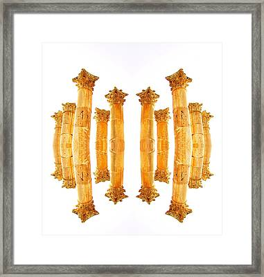 Framed Print featuring the photograph Dancing Columns by Marwan Khoury
