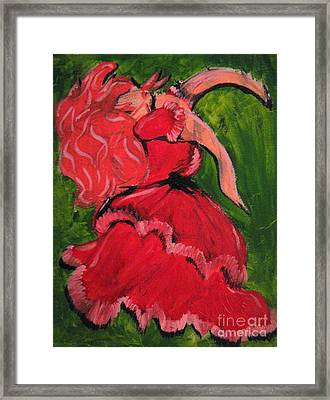 Dancing Doll Framed Print by Wendy Coulson