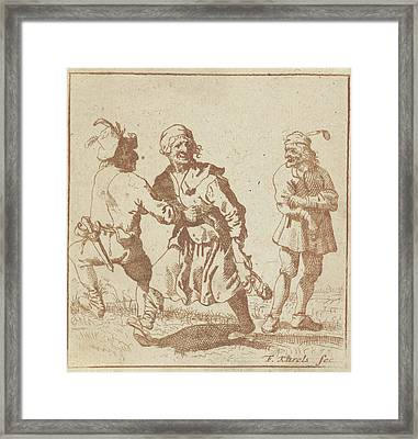 Dancing Farmer And His Wife Framed Print