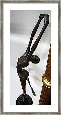 Dancing Female Figure Framed Print by Daniel Hagerman