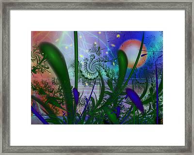 Dancing Fireflies Framed Print by Faye Symons