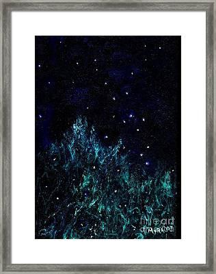 Dancing Fireflies Framed Print