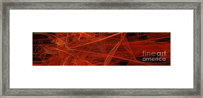 Dancing Flames 1 H - Panorama - Abstract - Fractal Art Framed Print by Andee Design