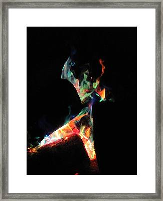 Dancing Flames Framed Print
