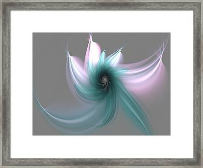 Dancing Flower Framed Print