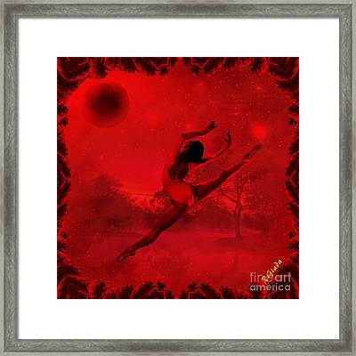 Framed Print featuring the digital art Dancing For The Moon - Fantasy Art By Giada Rossi by Giada Rossi