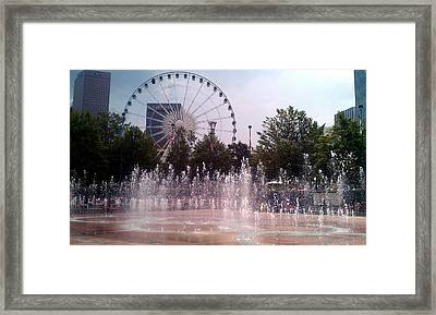 Dancing Fountains Framed Print
