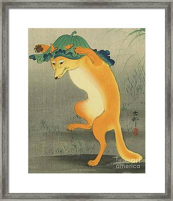 Dancing Fox Framed Print by Pg Reproductions