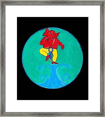 Dancing Ganesha 1 Framed Print