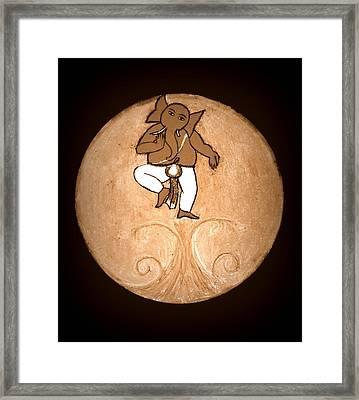 Dancing Ganesha 3 Framed Print
