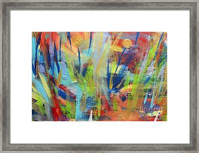 Dancing Garden Framed Print