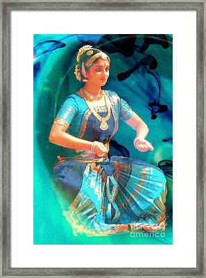 Dancing Girl With Gold Necklace Framed Print