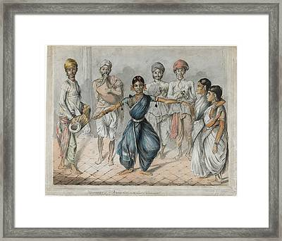 Dancing Girls And Musicians Framed Print by British Library