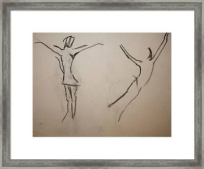 Dancing Girls Framed Print by Elena Svobodina
