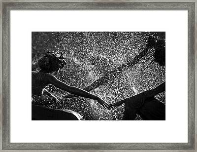 Framed Print featuring the photograph Dancing Girls Of Central Park by Dave Beckerman