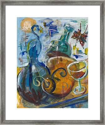 Dancing Gourds Framed Print