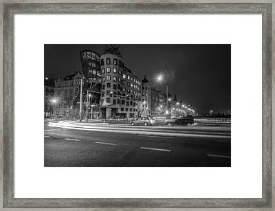 Dancing House  B-w Framed Print