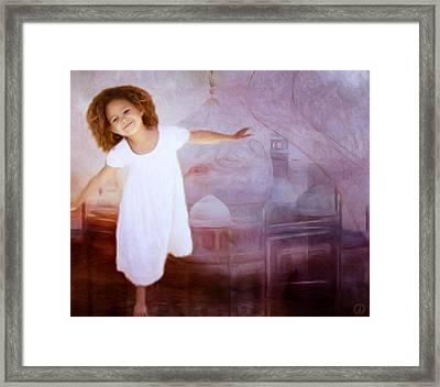 Dancing In A Fairy Tale Framed Print by Gun Legler
