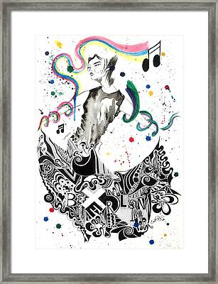 Dancing In Berlin Framed Print by Oddball Art Co by Lizzy Love