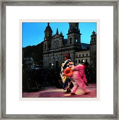 Dancing In Bogota Framed Print