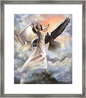 Dancing In Glory Framed Print