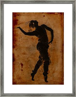 Dancing In Greek Framed Print by Sarah Vernon