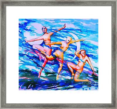 Dancing In Moonlight Framed Print