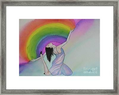 Dancing In Rainbows Framed Print