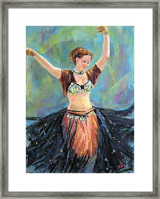 Dancing In The Air Framed Print by Jieming Wang