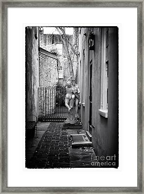 Dancing In The Alley Framed Print by John Rizzuto
