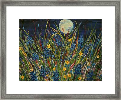 Dancing In The Moonlight Framed Print by Kathy Peltomaa Lewis
