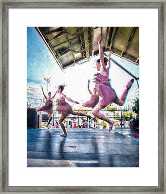 Dancing In The Park Framed Print by Ike Krieger