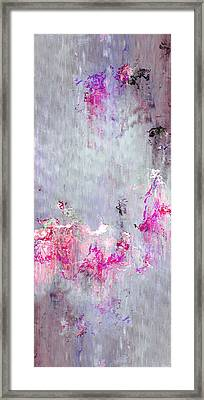 Dancing In The Rain - Abstract Art Framed Print by Jaison Cianelli